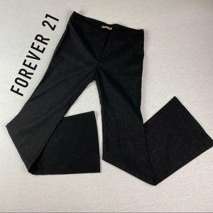 Vintage Forever 21 Black Glitter Raver Flare Pants
